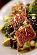 (DENVER, Co. - Shot 2/25/2005).Tuna Tataki Salad with avocado, kaiware sprouts, toasted pepitas and lemon wasabi dressing ($11). Chef-owner Richard Sandoval created a vibrant, colorful interior  and a menu highlighting the fresh and bold flavors of Latin America and Asia at Zengo Restaurant on Little Raven Street in Denver, Co. The restaurant has been open for a little more than a year now..(Photo by MARC PISCOTTY / © 2005)