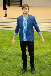 Burberry Prorsum Menswear Spring /Summer 2014 Collection.<br /> Douglas Booth arrives for Burberry Prorsum Menswear Spring /Summer 2014 Collection, Perks Field, Kensington Gardens, <br /> London, United Kingdom<br /> Tuesday, 18th June 2013<br /> Picture by Chris  Joseph / i-Images