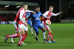Shaquile Coulthirst of Peterborough United battles for the ball - Mandatory by-line: Joe Dent/JMP - Mobile: 07966 386802 - 05/04/2016 - FOOTBALL - Highbury Stadium - Fleetwood, England - Fleetwood Town v Peterborough United - Sky Bet League One
