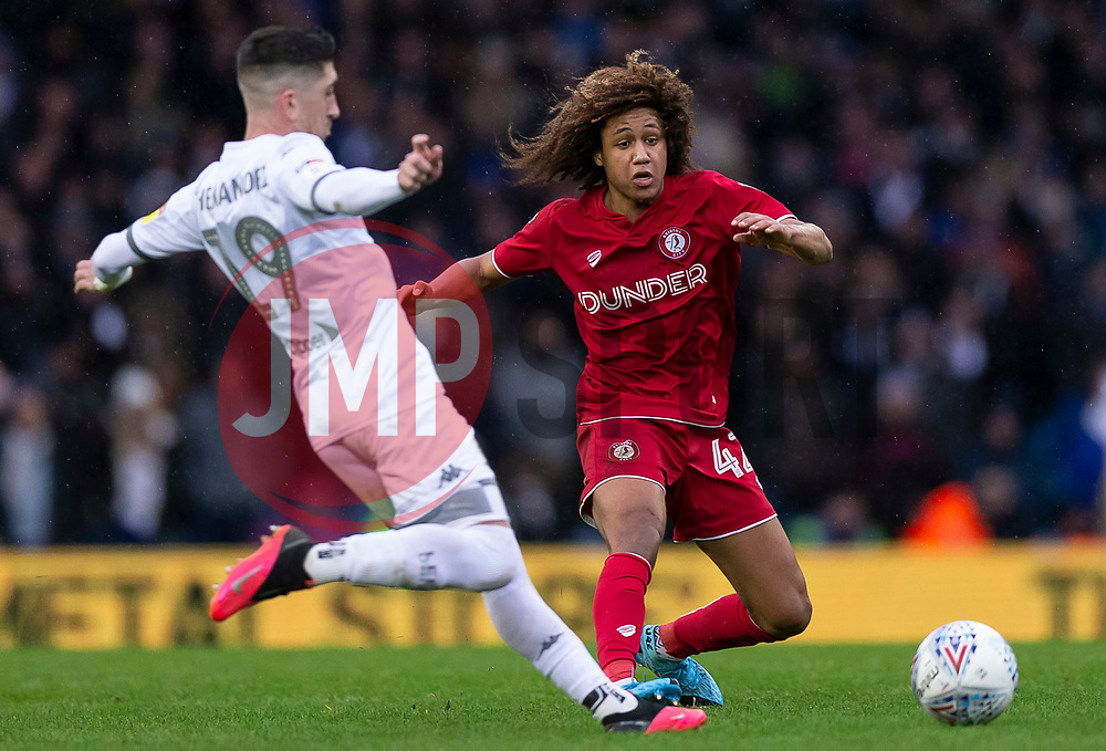 Pablo Hernandez of Leeds United and Han-Noah Massengo of Bristol City - Mandatory by-line: Daniel Chesterton/JMP - 15/02/2020 - FOOTBALL - Elland Road - Leeds, England - Leeds United v Bristol City - Sky Bet Championship