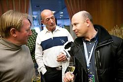 Bojan Krizaj (SLO), Claude Perrot (FRA) and Sergio Bergamelli (ITA) at meeting of former Alpine Ski racers named as Vitranc Legends - Winners of Vitranc Cup  at FIS Ski World Cup Alpine Kranjska Gora, on March 5, 2011 in Kranjska Gora, Slovenia.  (Photo By Vid Ponikvar / Sportida.com)