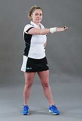 Umpire Ann-Marie Atkins signalling ordering off