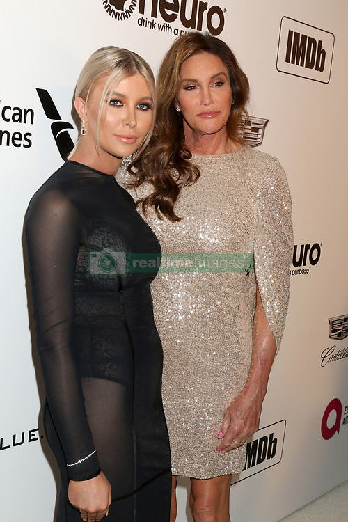 February 24, 2019 - West Hollywood, CA, USA - LOS ANGELES - FEB 24:  Sophia Hutchins, Caitlyn Jenner at the Elton John Oscar Viewing Party on the West Hollywood Park on February 24, 2019 in West Hollywood, CA (Credit Image: © Kay Blake/ZUMA Wire)