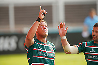 Rugby Union - 2019 / 2020 Gallagher Premiership - Leicester Tigers vs Sale Sharks<br /> <br /> Hanro Liebenbergof Leicester Tigers celebrates a try at Welford Road.<br /> <br /> COLORSPORT/LYNNE CAMERON