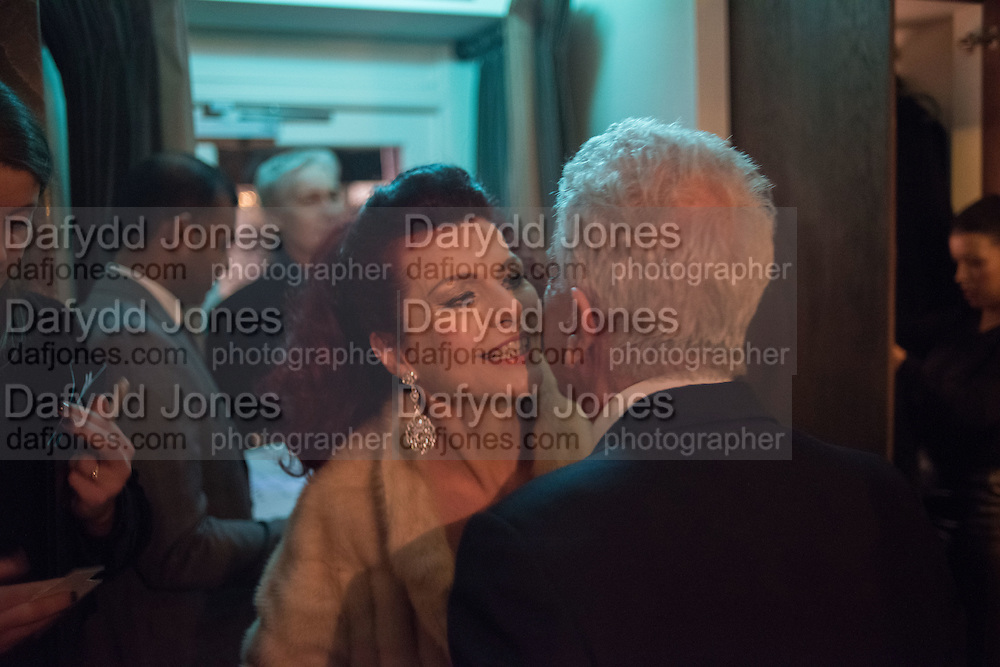 CLEO ROCOS, NICKY HASLAM,  Nicky Haslam hosts dinner at  Gigi's for Leslie Caron. 22 Woodstock St. London. W1C 2AR. 25 March 2015