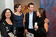 REBECCA KING LASSMAN; MARGOT HELLER; MATTHEW SLOTOVER, Reception of the Silent Auction for the South London Gallery.  Hauser and Wirth. Savile Row. London. 13 October 2011. <br /> <br />  , -DO NOT ARCHIVE-© Copyright Photograph by Dafydd Jones. 248 Clapham Rd. London SW9 0PZ. Tel 0207 820 0771. www.dafjones.com.
