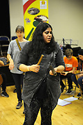 Machynlleth, Wales. 29th July, 2017. <br /> A member of the ECCO (Ethnic Contemporary Classical Orchestra) participating in the instrumental workshop.<br /> Photographer; Kevin Hayes