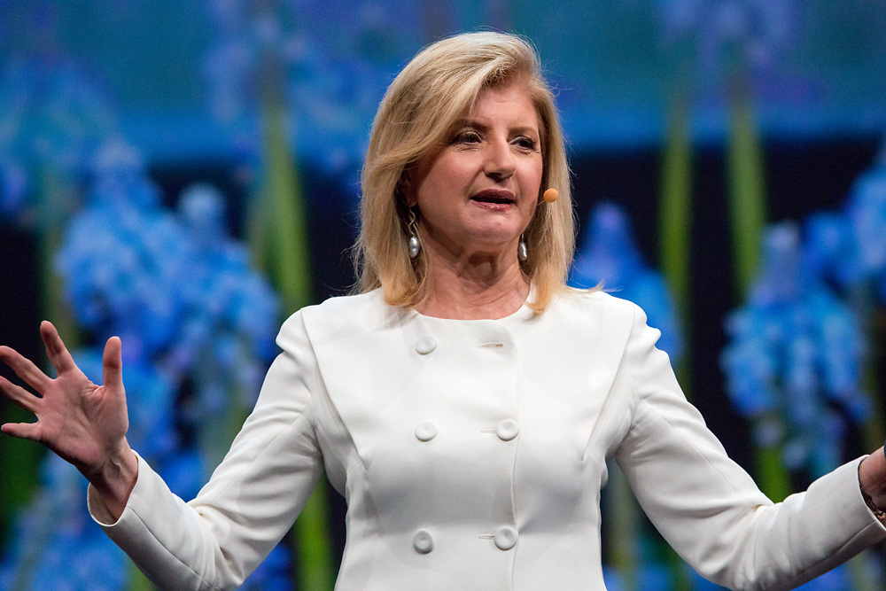 Arianna Huffington speaking at Intuit Connect 2014.