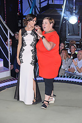 © Licensed to London News Pictures. 12/09/2014, UK. Edele Lynch & Deirdre 'White Dee' Kelly, Celebrity Big Brother Summer 2014 - Live Final, Elstree Studios, Elstree UK, 12 September 2014. Photo credit : Brett D. Cove/Piqtured/LNP