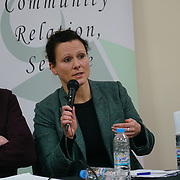"""London, England, UK. 29th November 2017. Dr Susann Wiedlitzka is an Lecturer in Criminology; Research Fellow in hate crime, School of Law join the debate """"Confronting anti-muslim hate crimes in Britain"""" challenges and opportunities."""