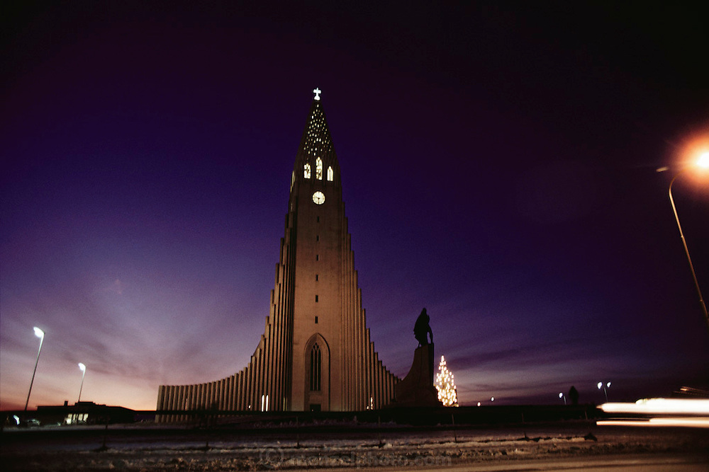 Hallgrimskirkaja Church, Reykjavik, Iceland. Architecture. Material World Project.