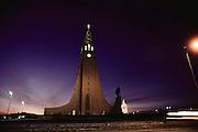 Hallgrimskirkaja Church, Reykjavik, Iceland. Architecture. Material World Project.
