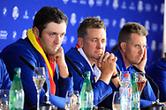 Ian Poulter (Team Europe) during media interview after the sunday singles at the Ryder Cup, Le Golf National, Paris, France. 30/09/2018.<br /> Picture Phil Inglis / Golffile.ie<br /> <br /> All photo usage must carry mandatory copyright credit (© Golffile | Phil Inglis)