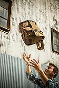 DAMN DOG LINE OF BAGS. PHOTO BY CHRIS GRANGER