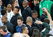 Lionel Messi walks away after winning the FIFA Golden Ball for the best player of World Cup 2014 at Maracana Stadium, Rio de Janeiro<br /> Picture by Andrew Tobin/Focus Images Ltd +44 7710 761829<br /> 13/07/2014