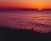 Sunrise over Lake Huron between Oscoda and Greenbush, Michigan.