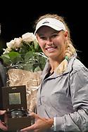 Caroline Wozniacki at the 2018 Champions Battle at Parken, Copenhagen, Denmark, 30-04-2018. Photo Credit: Katja Boll/EVENTMEDIA.