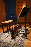 Cello in a recording studio