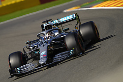 August 30, 2019, Spa Francorchamps, Belgium: Mercedes Driver LEWIS HAMILTON (GBR)  in action during the second free practice session of the Formula one Belgian Grand Prix at the SPA Francorchamps circuit - Belgium (Credit Image: © Pierre Stevenin/ZUMA Wire)