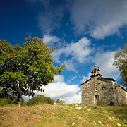 Stone chapel of the small village of Piornedo at Spain's Ancares mountains