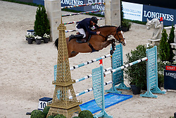 BOST Roger Yves (FRA), Sangria du Coty<br /> Paris - FEI World Cup Finals 2018<br /> Longines FEI World Cup Jumping Final II<br /> www.sportfotos-lafrentz.de/Stefan Lafrentz<br /> 13. April 2018