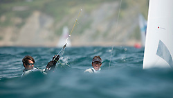 03.08.2012, Bucht von Weymouth, GBR, Olympia 2012, Segeln, im Bild Marinho Alvaro, Nunes Miguel, (POR, 470 Men) // during Sailing, at the 2012 Summer Olympics at Bay of Weymouth, United Kingdom on 2012/08/03. EXPA Pictures © 2012, PhotoCredit: EXPA/ Juerg Kaufmann ***** ATTENTION for AUT, CRO, GER, FIN, NOR, NED, POL, SLO and SWE ONLY!