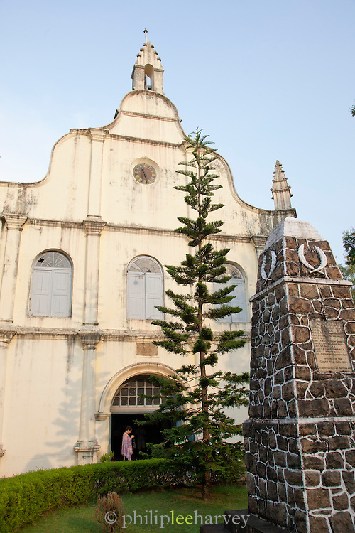 The Church of St Francis in Cochin, Kerala, India