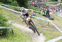 01.06.2014, Bullentaele, Albstadt, GER, UCI Mountain Bike World Cup, Cross Country Damen, im Bild Jolanda Neff Schweiz // during Womens Cross Country Race of UCI Mountainbike Worldcup at the Bullentaele in Albstadt, Germany on 2014/06/01. EXPA Pictures © 2014, PhotoCredit: EXPA/ Eibner-Pressefoto/ Langer<br /> <br /> *****ATTENTION - OUT of GER*****