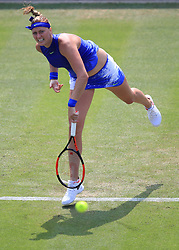 Petra Kvitova during her match with Tereza Smitkova during day two of the 2017 AEGON Classic at Edgbaston Priory, Birmingham.