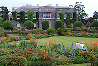 Mount Stewart House, National Trust property, Co Down, N Ireland, UK,  side view from the gardens, Co Down, N Ireland, UK, August 2011. 201108200057.  Copyright Image from Victor Patterson, 54 Dorchester Park, Belfast, United Kingdom, UK...For my Terms and Conditions of Use go to http://www.victorpatterson.com/Victor_Patterson/Terms_%26_Conditions.html