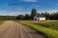 Historic Preston Lutheran Church near Fort Ransom, North Dakota, USA