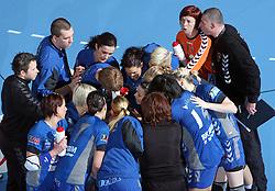 Team of Krim at EHF Champions league handball match in Group II between RK Krim Mercator and Gyori Audi Eto KC, on February 7, 2009, in Kodeljevo, Ljubljana, Slovenia. Gyori won 35:31. (Photo by Vid Ponikvar / Sportida)