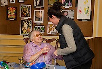 Helen Clark's 100th birthday celebration at Genesis Rehab Facility with family and friends.  Karen Bobotas for the Laconia Daily Sun