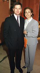MR EDDIE EDMONSTONE and MISS DEBORAH BENNETT<br />  at a reception in London on 26th April 2000.ODB 208