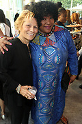 June 12, 2017-New York, New York-United States: (L-R) Louise Guido, Global Thought Leader and Ambassador Zindizi Mandela attends ' Cocktails & Conversation with Ambassador Zindzi Mandela 'highlighting the advocacy for the equity and rights of girls and women held at the Lincoln Ristorante at Lincoln Center on June 12, 2017 in New York City. Powered by CareerBox Soweto, the organization's mission is fulfill the hopes and dreams of youth of South Africa. (Photo by Terrence Jennings/terrencejennings.com)