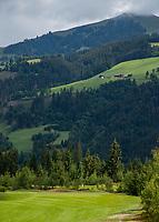 WESTENDORF -  Tirol   Oostenrijk,  -  hole 7 . Golfanlage Kitzbuheler Alpen Westendorf.    COPYRIGHT KOEN SUYK