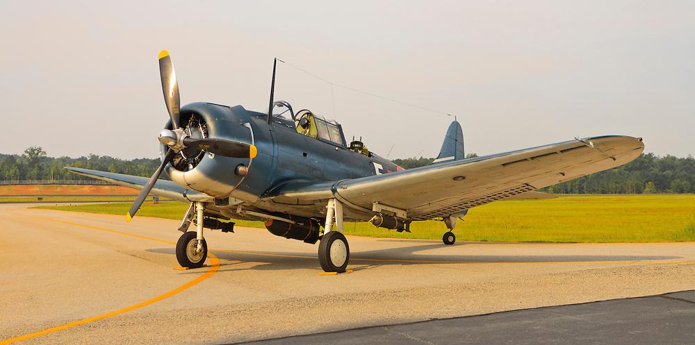 The Douglas SBD-5 Dive Bomber.  Falcon Field, Peachtree City, Georgia.