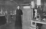 Marie Curie (1867-1934) Polish-born French physicist in her laboratory in 1912, the year after she received here second Nobel prize, this time for chemistry.