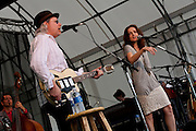 Buddy Miller and paty Griffin at the Appel Farms Festival, Elmer, NJ 6/5/2010.