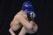 British Para-Swimming International Meet 2016, Tollcross Swimming Centre, Glasgow.<br /> <br /> Abby Kane gains the Olympic qualifying time in the 100m Backstroke.<br /> <br /> Abby Kane is congratulated by fellow qualifier Hannah Russell<br /> <br /> <br /> <br />  Neil Hanna Photography<br /> www.neilhannaphotography.co.uk<br /> 07702 246823