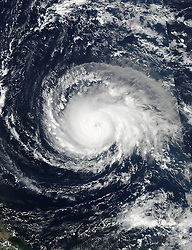 September 5, 2017 - Gulf Of Mexico, TX, United States - Hurricane Irma strengthens to a Category 5 storm as it approaches Puerto Rico in the eastern Caribbean as seen from the GOES-16 satellite September 5, 2017. Imra is packing winds of 180-mph making it the strongest hurricane ever recorded in the Atlantic Ocean. (Credit Image: © Noaa/Planet Pix via ZUMA Wire)