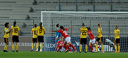 October 9, 2018 - Biel, SWITZERLAND - Switzerland scores the 1-0 during a soccer game between Switzerland and Belgium's national team the Red Flames, Tuesday 09 October 2018, in Biel, Switzerland, the return leg of the play-offs qualification games for the women's 2019 World Cup. BELGA PHOTO DAVID CATRY (Credit Image: © David Catry/Belga via ZUMA Press)