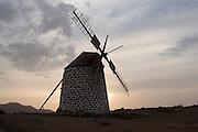 Old mill in Villaverde,  Fuerteventura, Spain.