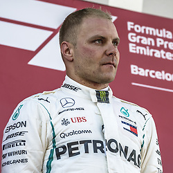 May 13, 2018 - Barcelona, Catalonia, Spain - VALTTERI BOTTAS (FIN), Mercedes, looks on at the podium after getting 2nd at the Spanish GP at Circuit de Barcelona - Catalunya (Credit Image: © Matthias Oesterle via ZUMA Wire)