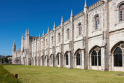 Courtyard at Mosteiro dos Jeronimos, Lisbon, Portugal