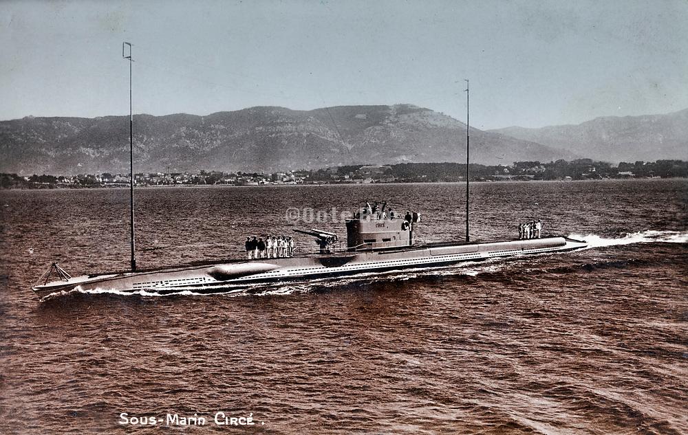 French 600 series class Circé submarine 1920s