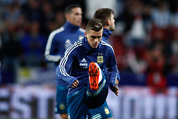 March 22, 2019 - Madrid, MADRID, SPAIN - Giovani Lo Celso of Argentina during the international friendly football match played between Argentina and Venezuela at Wanda Metropolitano Stadium in Madrid, Spain, on March 22, 2019. (Credit Image: © AFP7 via ZUMA Wire)