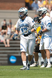 09 May 2009: North Carolina Tar Heels defenseman Kevin Piegare (17) during a 15-13 win over the University of Maryland - Baltimore County Retrievers on Fetzer Field in Chapel Hill, NC.