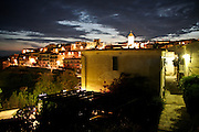 Panorama notturno di Capoliveri, antico borgo dell'Isola d'Elba..The nighttime Capoliveri landscape, ancient village of Elba Island.