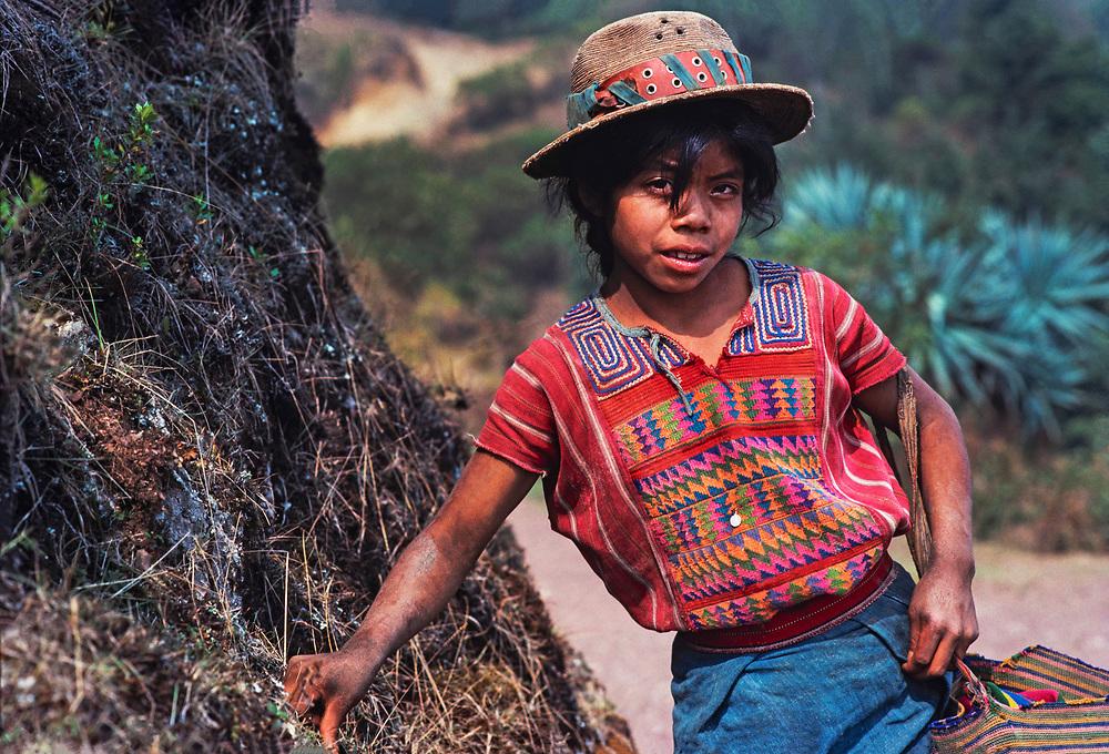 Shepherd girl, Todos Santos, Huehuetenango, Guatemala